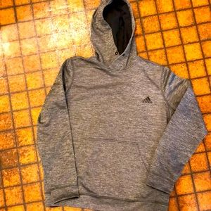 Adidas ClimaWarm Weathered Gray Hoodie